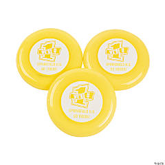Personalized Yellow Team Spirit Flying Disks