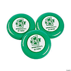 Personalized Green Team Spirit Flying Disks