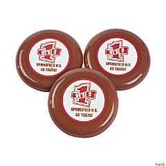 Personalized Burgundy Team Spirit Flying Disks