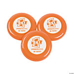Personalized Orange Team Spirit Flying Disks