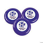 Personalized Purple Team Spirit Flying Disks