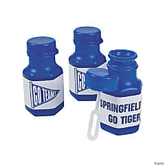 Personalized Blue Team Spirit Mini Bubble Bottles