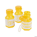Personalized Yellow Team Spirit Mini Bubble Bottles