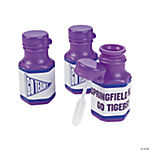 Personalized Purple Team Spirit Mini Bubble Bottles