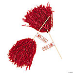 Red Personalized Pom-Poms