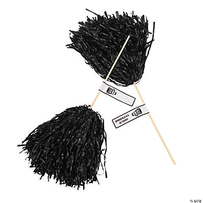Black Personalized Pom-Poms
