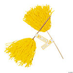Personalized Yellow Pom-Poms