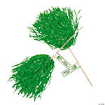 Personalized Green Pom-Poms