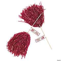 Personalized Burgundy Pom-Poms