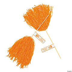 Orange Personalized Pom-Poms
