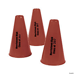 Burgundy Personalized Megaphones