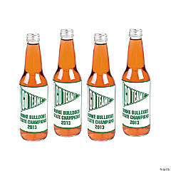 Personalized Green Team Spirit Bottle Labels