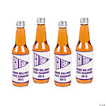 Personalized Purple Team Spirit Bottle Labels