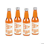 Personalized Orange Team Spirit Bottle Labels