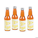 Personalized Yellow Team Spirit Bottle Labels