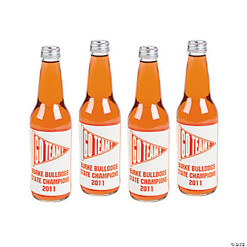 Personalized Red Team Spirit Bottle Labels