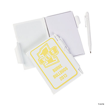 Personalized Yellow Team Spirit Notepad With Pen Cases