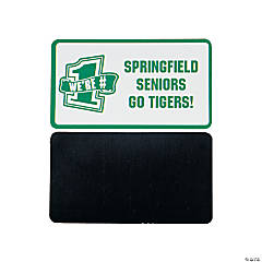 Personalized Green Team Spirit Magnets