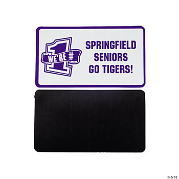Personalized Purple Team Spirit Magnets