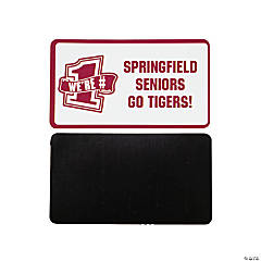 Personalized Burgundy Team Spirit Magnets