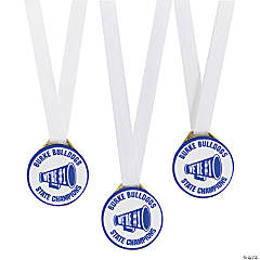 Personalized Blue Team Spirit Medals