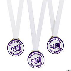 Personalized Purple Team Spirit Medals