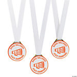 Personalized Orange Team Spirit Medals