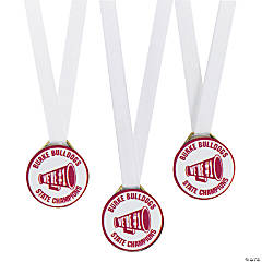Personalized Burgundy Team Spirit Medals
