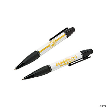 Personalized Yellow Team Spirit Pens