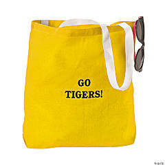 Personalized Large Tote Bags - Yellow