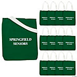 Personalized Large Tote Bags - Green