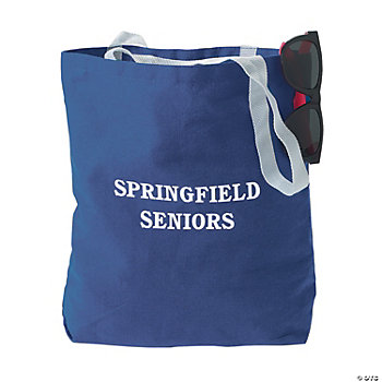 Personalized Large Tote Bags - Blue