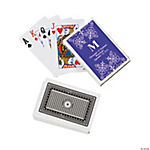Purple Monogram Wedding Personalized Playing Cards