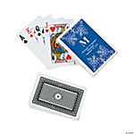 Blue Personalized Monogram Wedding Playing Cards
