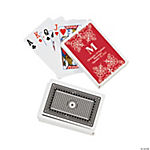 Red Personalized Monogram Wedding Playing Cards