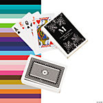 Black Personalized Monogram Wedding Playing Cards