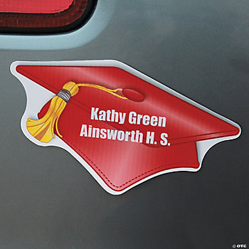 Personalized Red Graduation Magnets