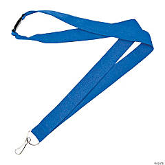 Blue Nylon Lanyards