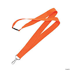 Orange Nylon Lanyards