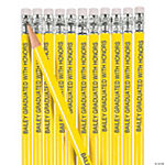 Yellow Personalized Pencils