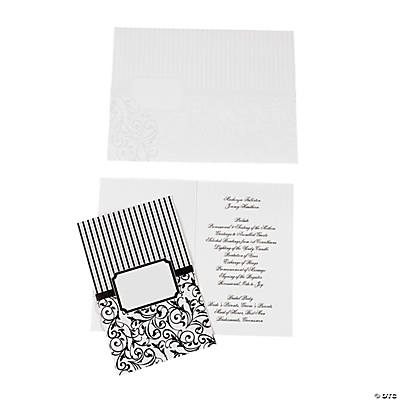 Black & White Wedding Programs