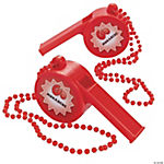"Personalized Jumbo ""Let's Go"" Whistles"