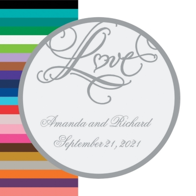 Personalized ?Love? Wedding Favor Stickers