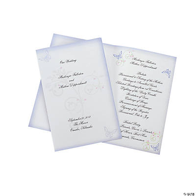 Spring Wedding Programs
