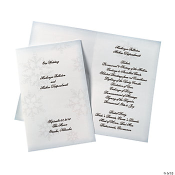 Winter Wedding Programs