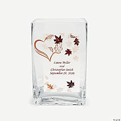 Personalized Fall Wedding Glass Cling