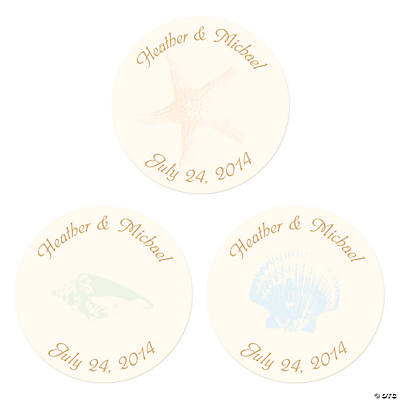Personalized Summer Wedding Envelope Seals