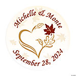 Personalized Fall Wedding Envelope Seals