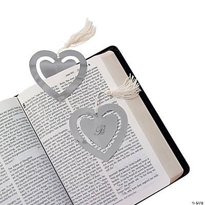 Personalized Heart Bookmark with Monogram