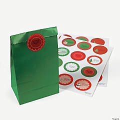 24 Personalized Christmas Favor Stickers